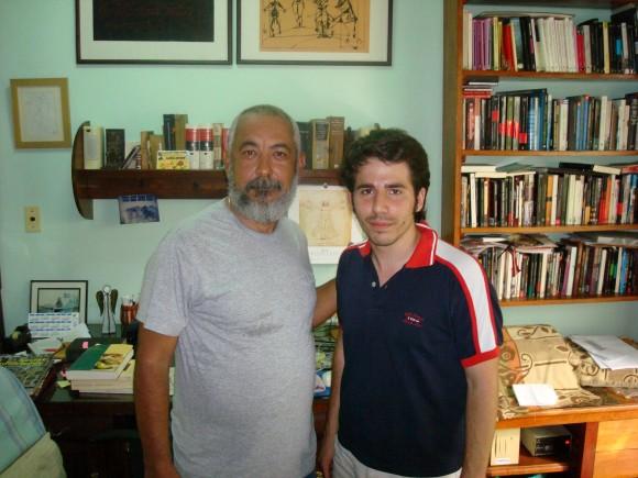 Leonardo Padura y Lorenzo Rodríguez Garrido